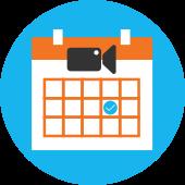 Video Calendar Icon