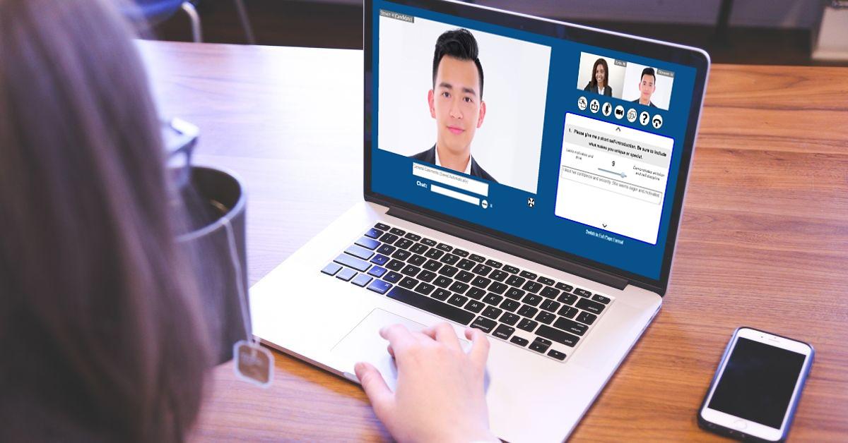 Live Video Interview Screenshot